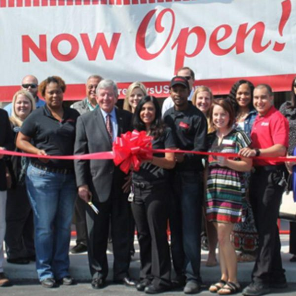Freddy's Franchise location Grand Opening ribbon cutting