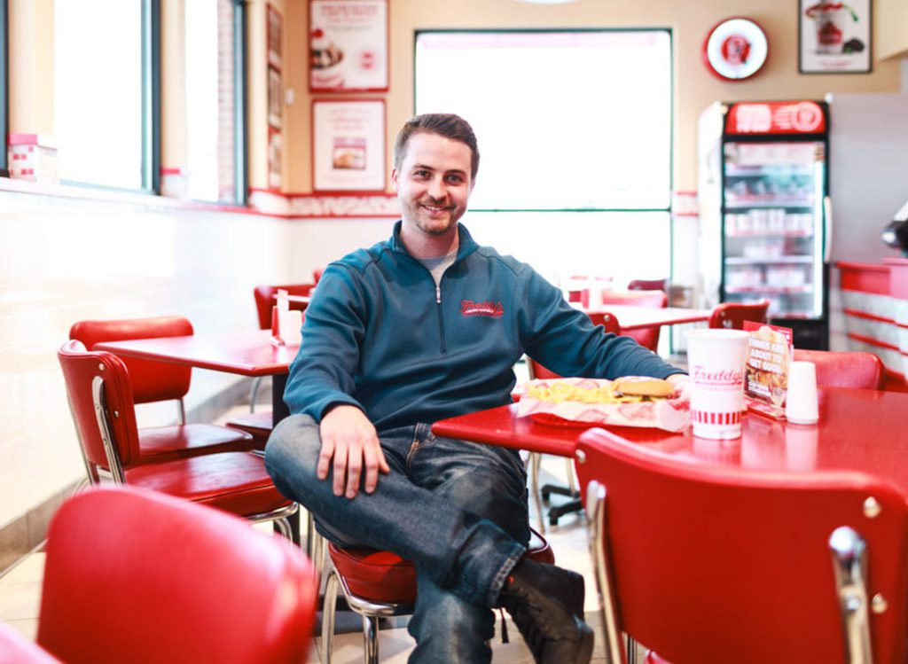 Freddy's Franchise owner in his franchise location