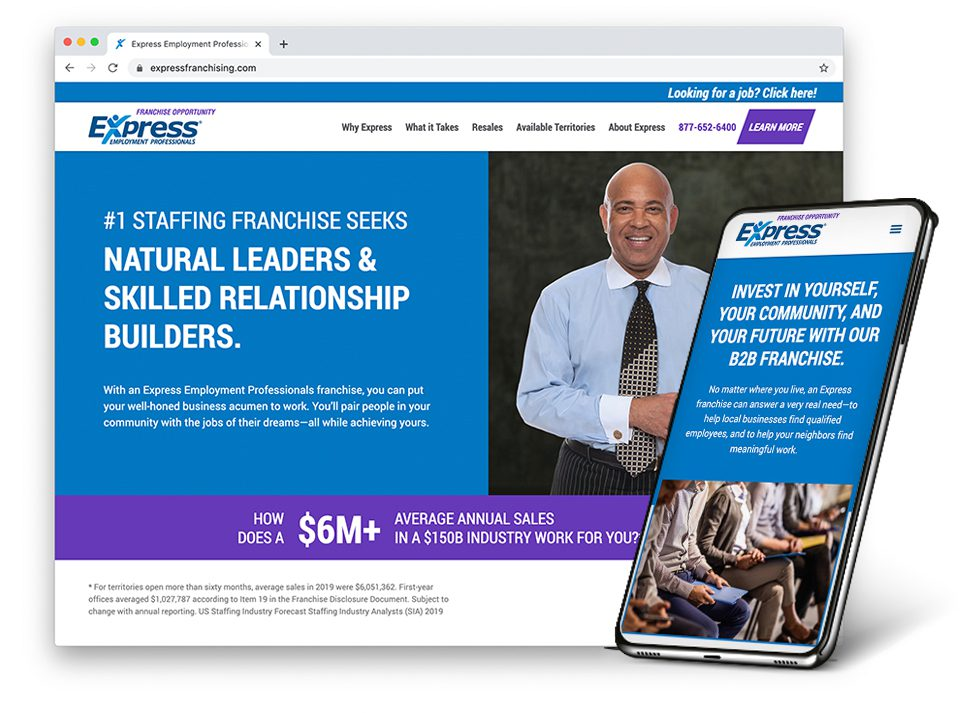 Express Employment Professionals Franchise website