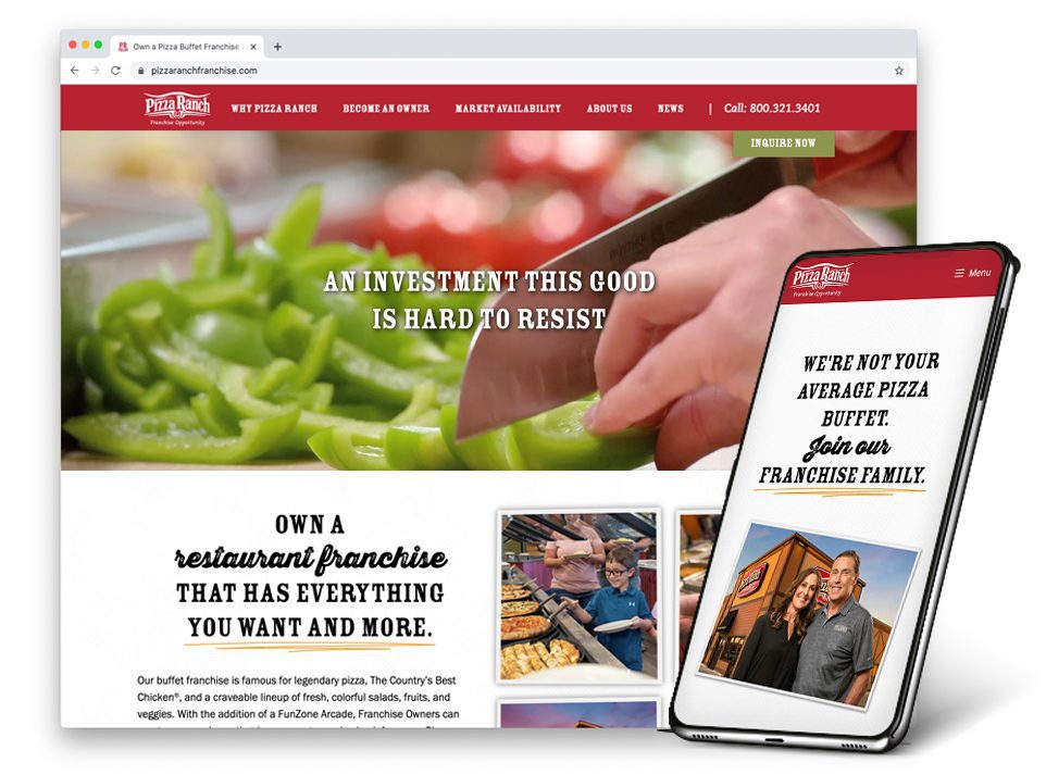 Pizza Ranch Franchise Website