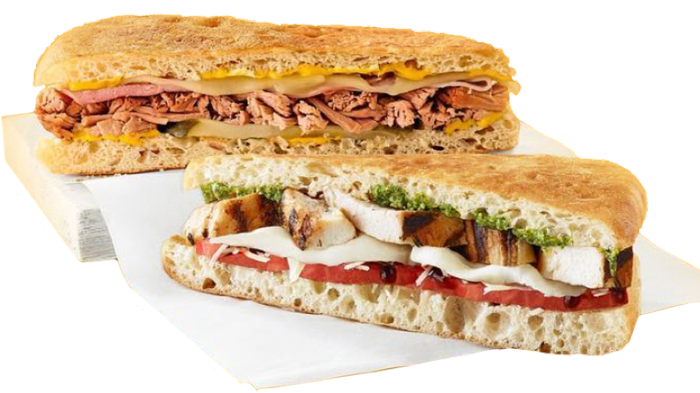 Tropical Smoothie Cafe sandwiches