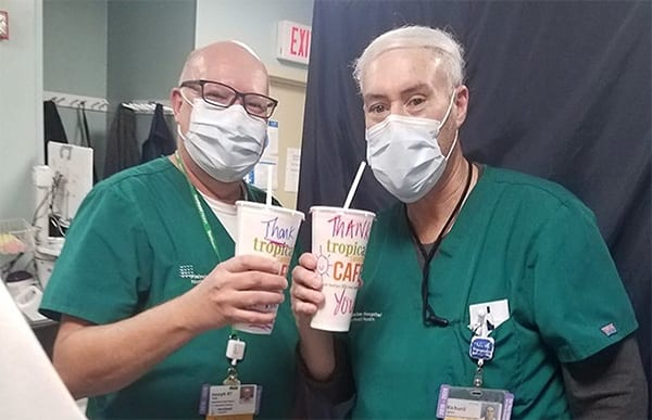Tropical Smoothie Cafe giving back to Healthcare workers