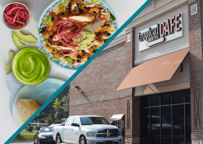 Tropical smoothie food and building exterior