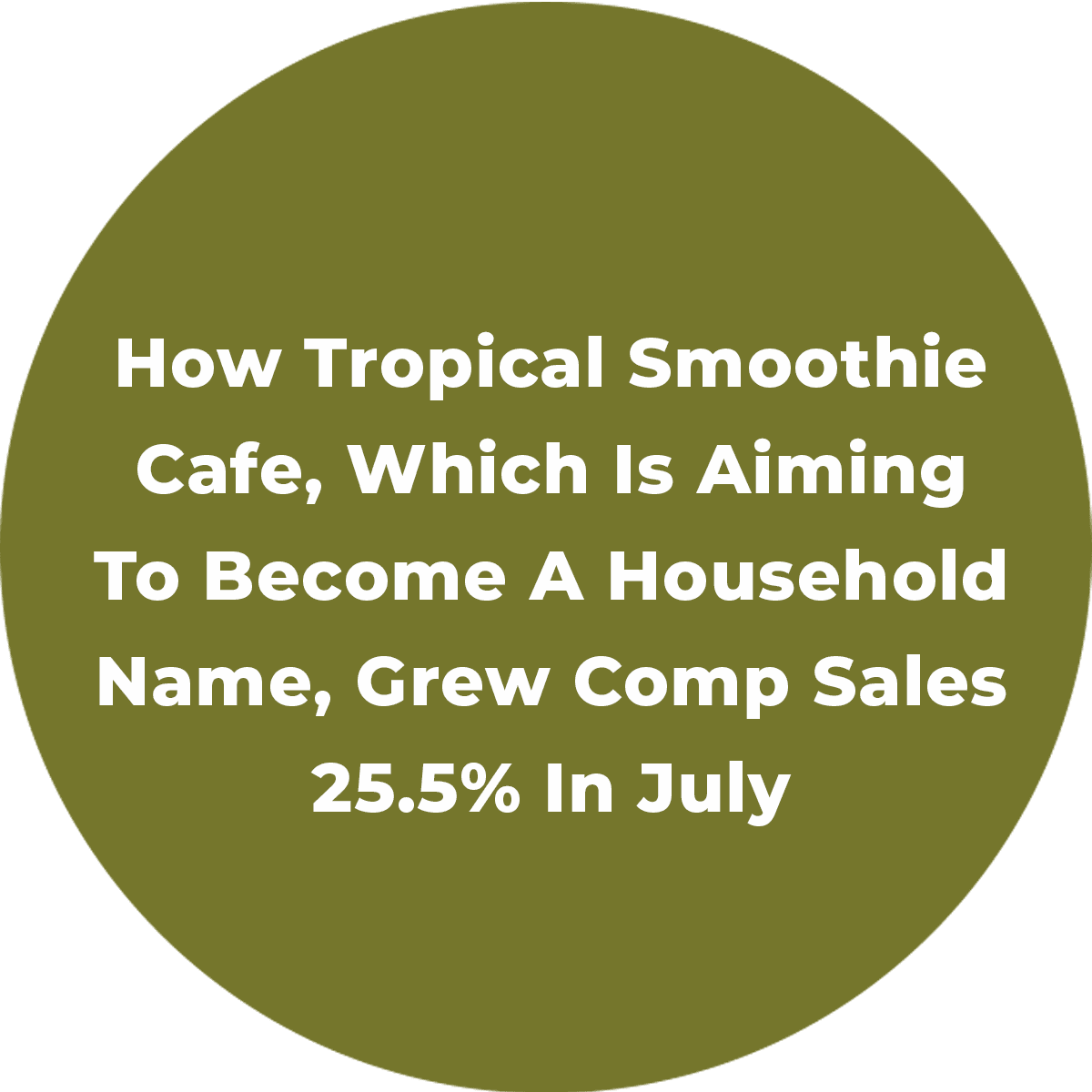 How Tropical Smoothie Cafe, Which Is Aiming To Become A Household Name, Grew Comp Sales 25.5% In July