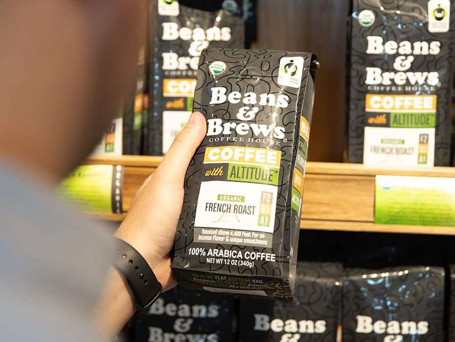 Beans & Brews coffee grounds for sale