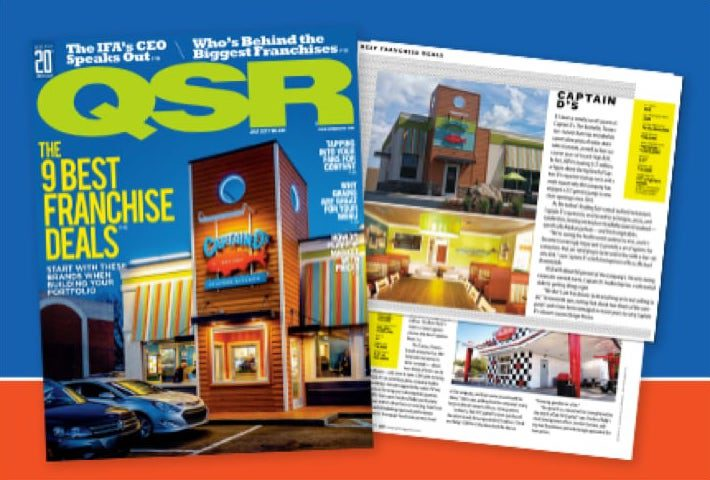 QSR magazine with article featuring Captain D's