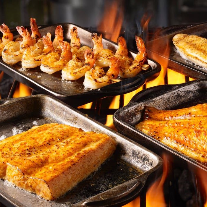Seafood on the grill